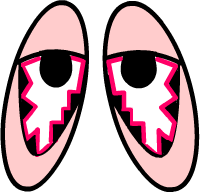 How Long is Pink Eye Contagious cartoon eyes