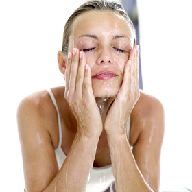Proactive Reviews for Acne Treatment woman washing face